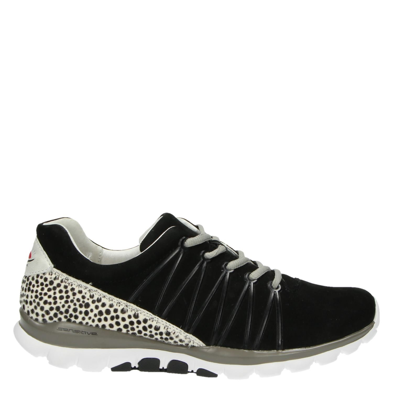 Gabor Rolling Soft dames lage sneakers zwart
