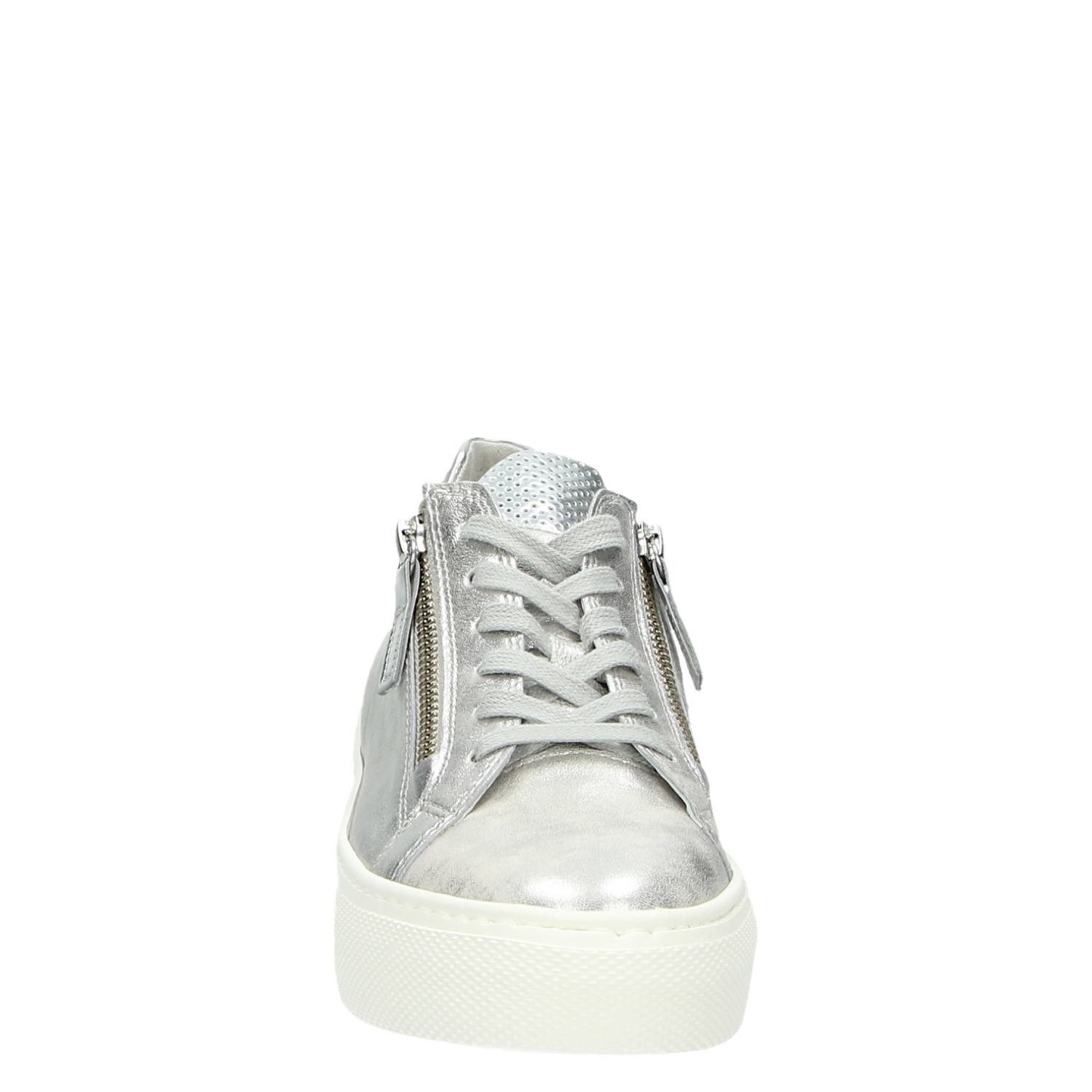 b6ae058496a Gabor dames lage sneakers zilver