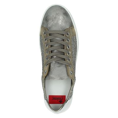 Rieker dames lage sneakers Taupe