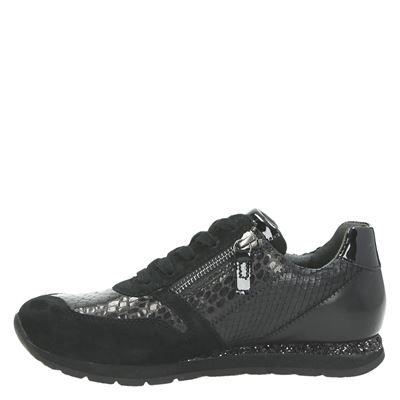 Gabor dames lage sneakers Zwart