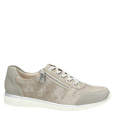 Rieker dames lage sneakers Beige