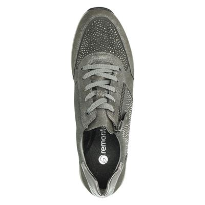 Remonte dames lage sneakers Grijs