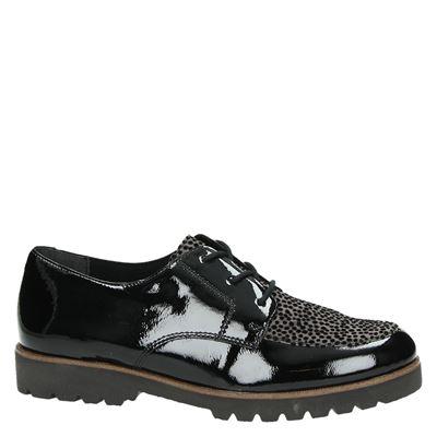 Remonte dames lage sneakers Zwart