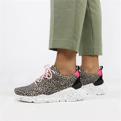 PS Poelman dames sneakers bruin