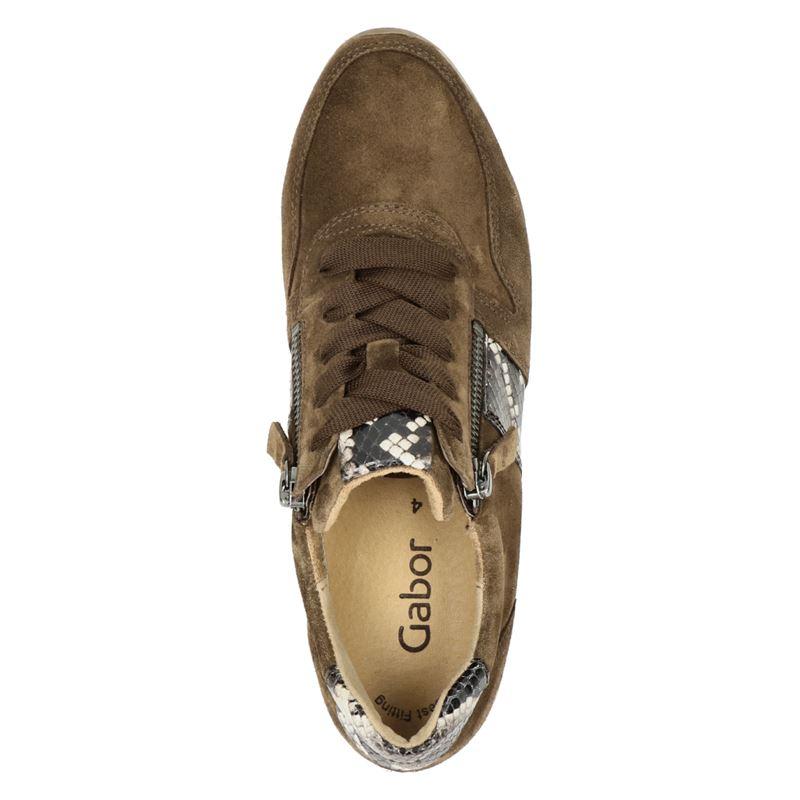 Gabor - Lage sneakers - Bruin