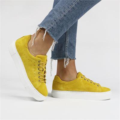 PS Poelman dames sneakers geel