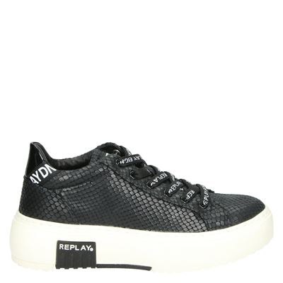 Replay dames platform sneakers zwart