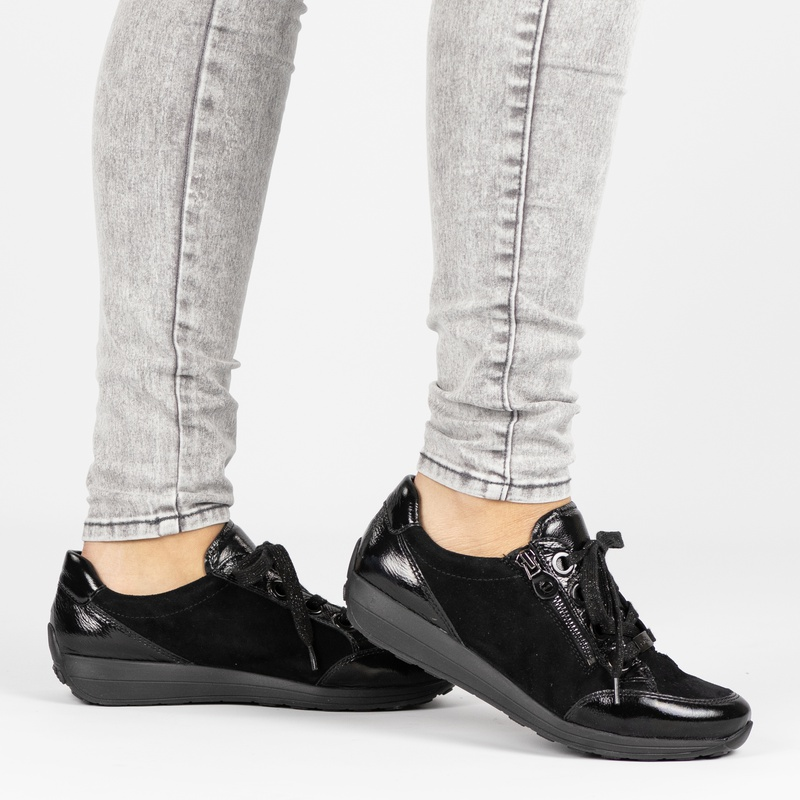Ara Osaka High Soft - Lage sneakers - Zwart