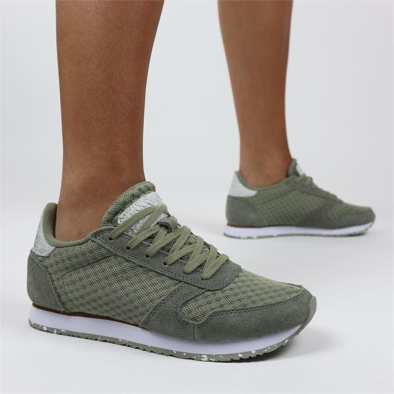 Woden Ydun Mesh II - Lage sneakers - Groen