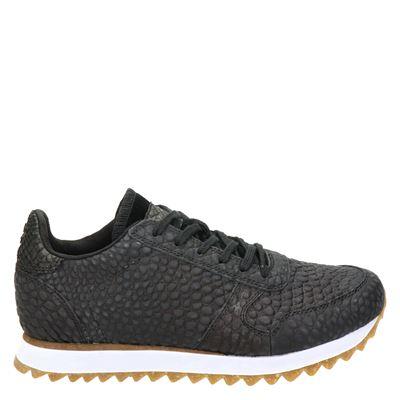 Woden Ydun Croco II - Lage sneakers - Zwart