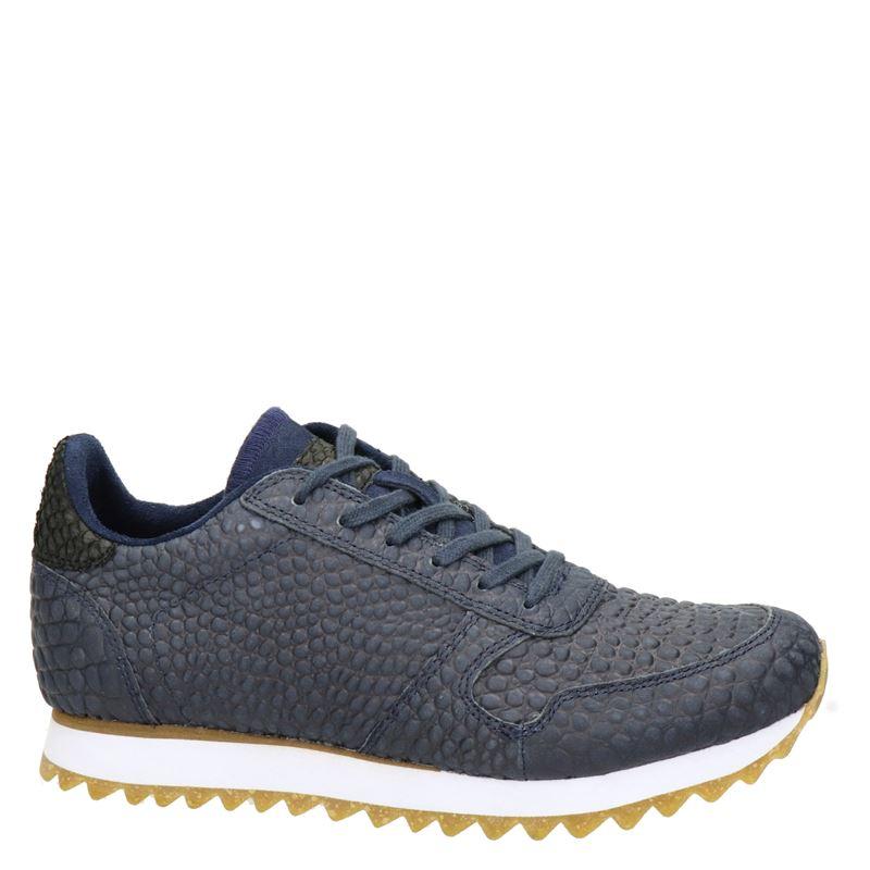 Woden Ydun Croco II - Lage sneakers - Blauw