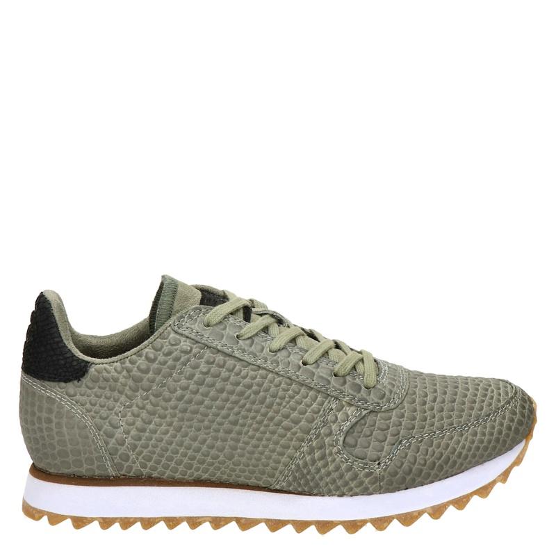 Woden Ydun Croco II - Lage sneakers - Groen