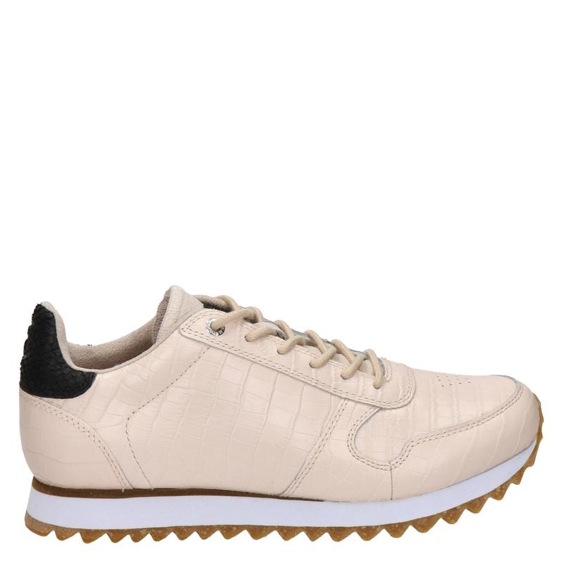 Woden Ydun Croco Shiny - Lage sneakers - Ecru
