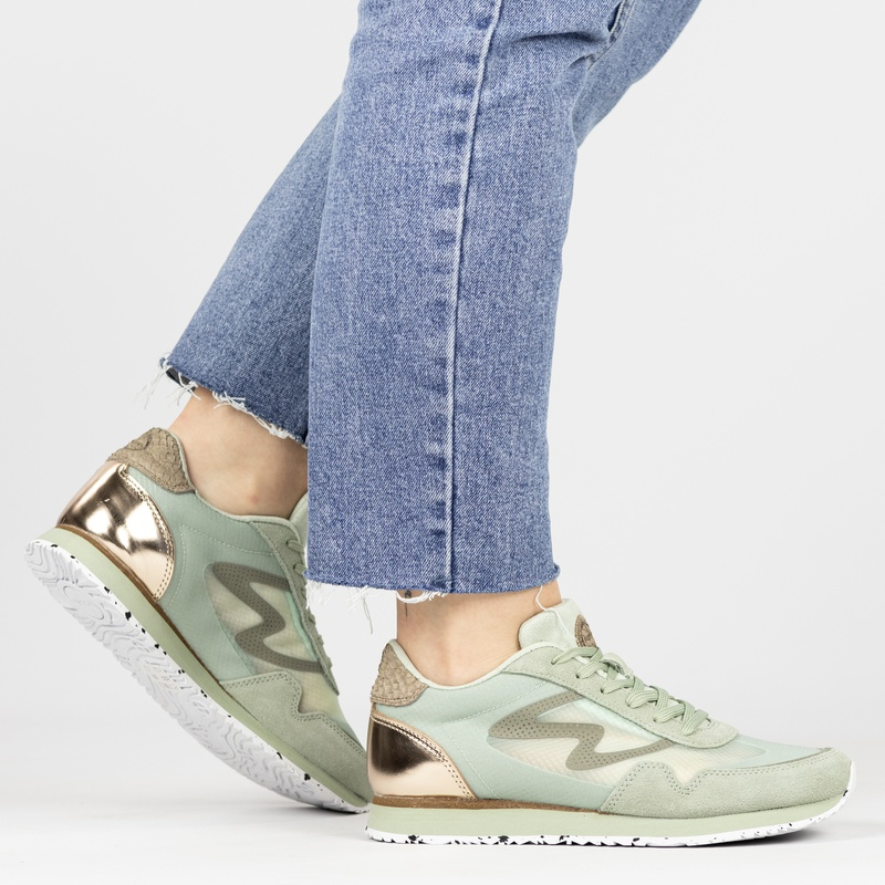 Woden Naja - Lage sneakers - Groen