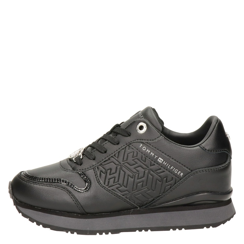 Tommy Hilfiger Sport Dressy wedge - Lage sneakers - Zwart