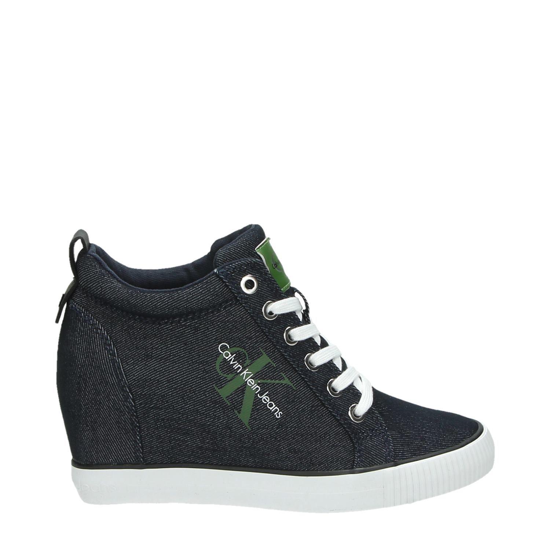 Calvin Klein Ritzy Hautes Chaussures De Sport Bleu TH9sj