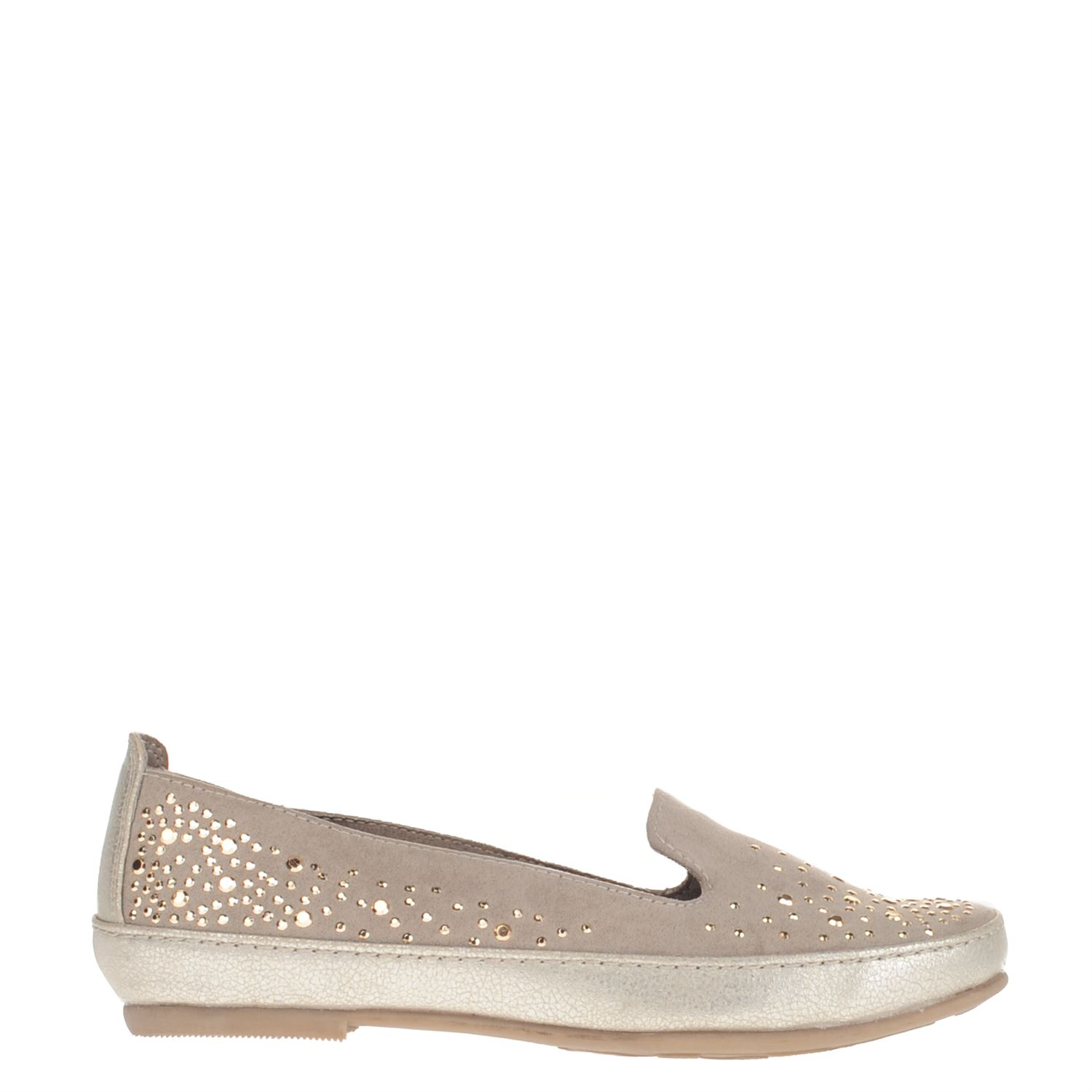 Marco Tozzi dames mocassins   loafers taupe 9dc7083bb3c4