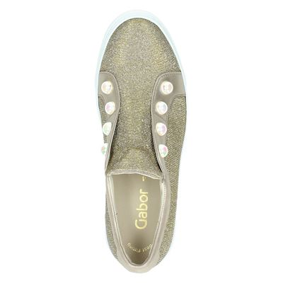 Gabor dames lage sneakers Goud