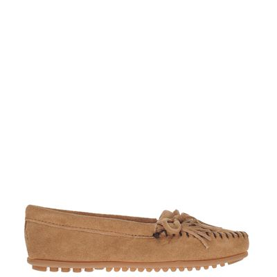 Minnetonka dames moccasins & loafers taupe