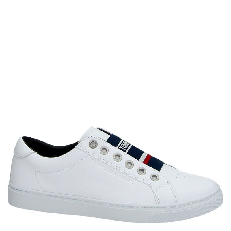 Tommy Hilfiger Sport Elastic City - Lage sneakers - Wit