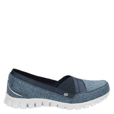 Skechers dames instapschoenen blauw