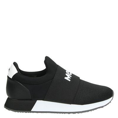 Mexx dames lage sneakers zwart