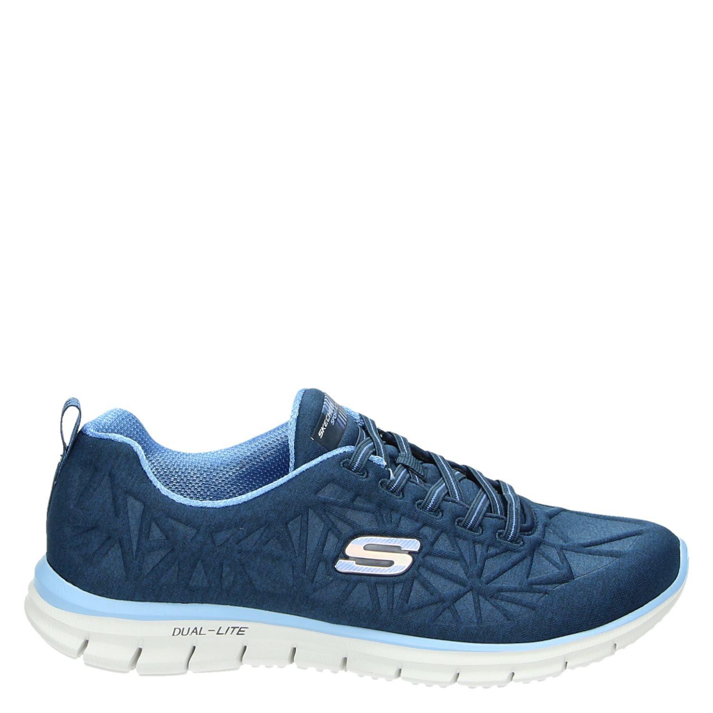Skechers Sneakers Dames Blauw Skechers Dames Lage 4qwFHZw