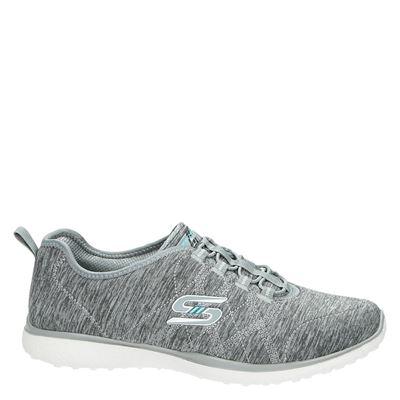 Skechers dames lage sneakers Grijs