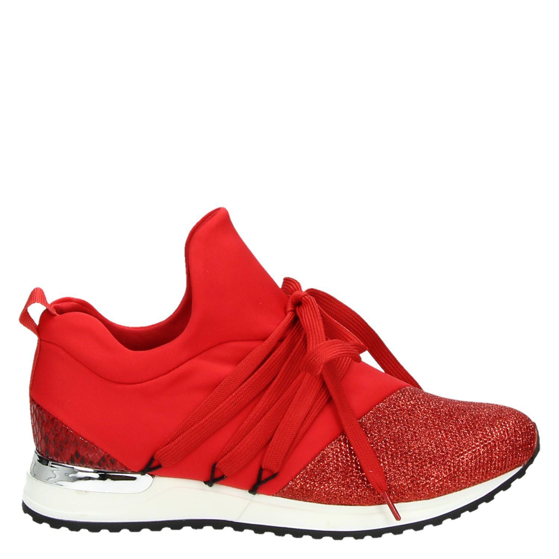 Rood Dames Lage La Strada Sneakers 8wOvn0mN
