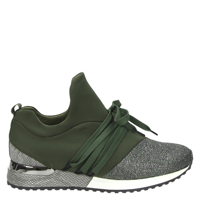 5707c2c22a7 La Strada dames lage sneakers groen