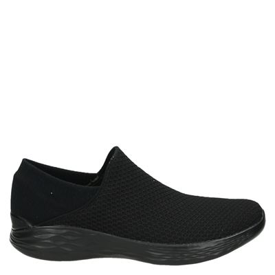 Skechers dames instapschoenen zwart