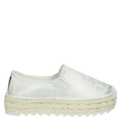 Replay dames espadrilles zilver