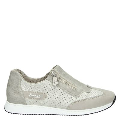 Rieker dames lage sneakers Grijs
