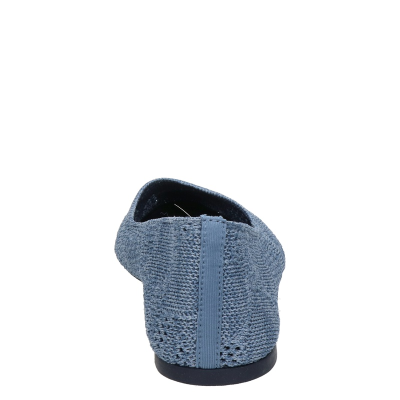 Skechers Knitty City - Ballerinas & instappers - Blauw