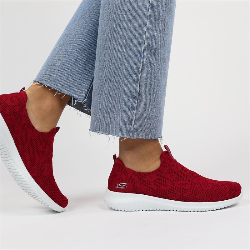 Skechers Stretch Fit - Instapschoenen - Rood