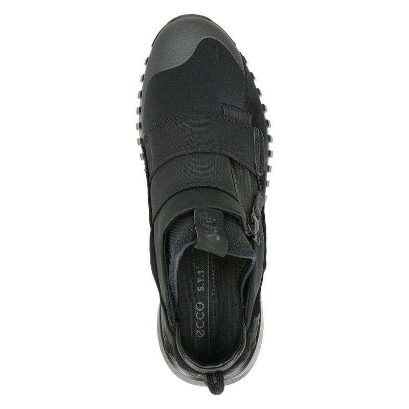 Ecco Zipflex - Instapschoenen - Zwart