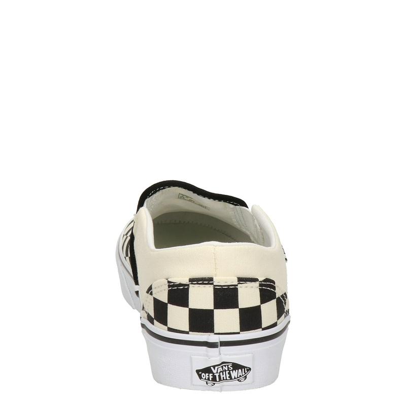 Vans Asher Checkerboard - Mocassins & loafers - Zwart