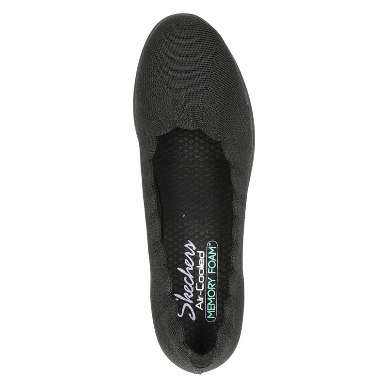 Skechers Cleo's - Ballerinas & instappers - Zwart