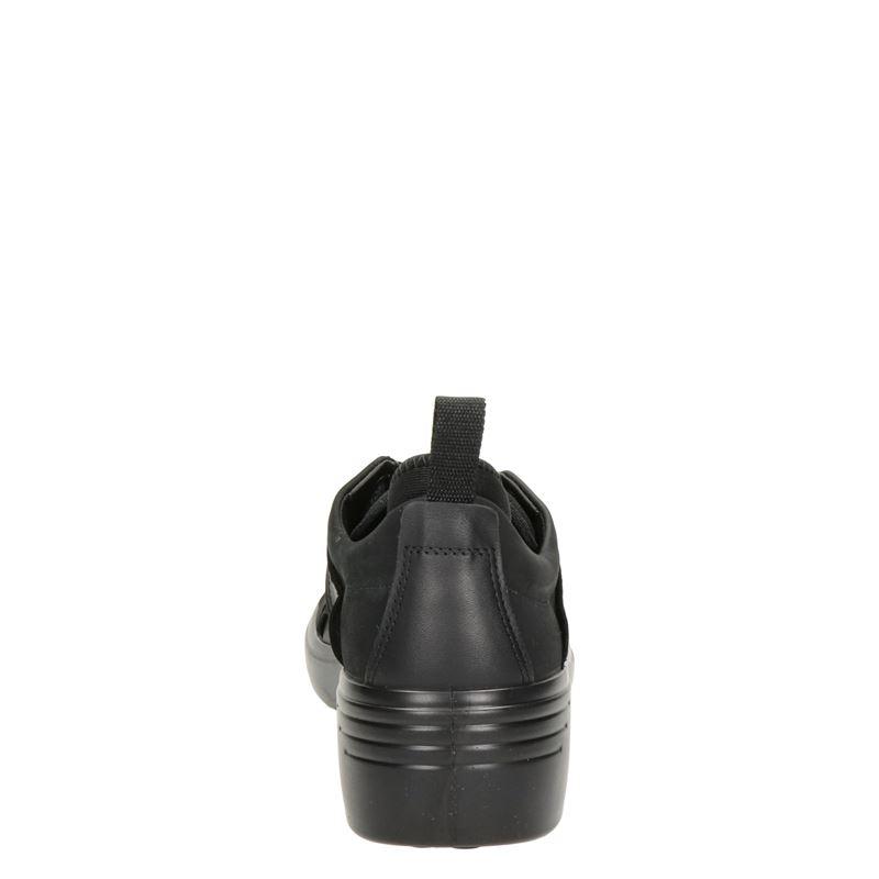 Ecco Soft 7 Wedge - Lage sneakers - Zwart