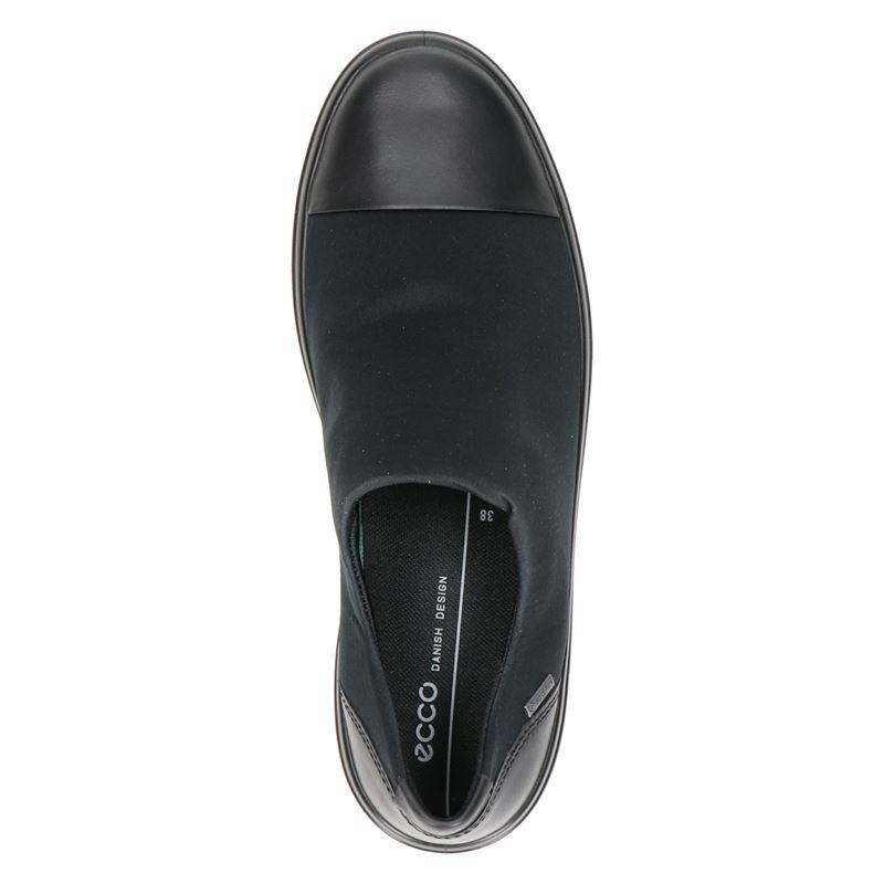 Ecco Soft 7 Wedge - Instapschoenen - Zwart