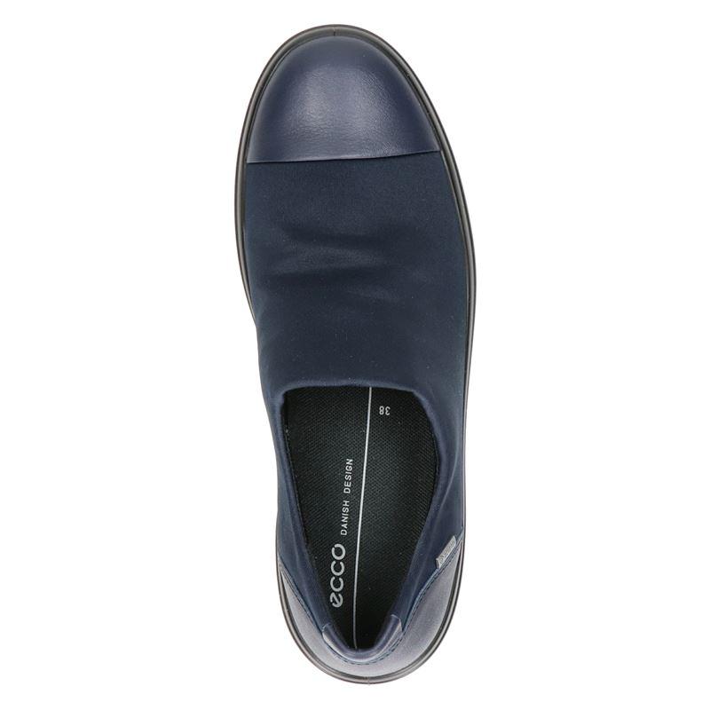 Ecco Soft 7 Wedge - Instapschoenen - Blauw