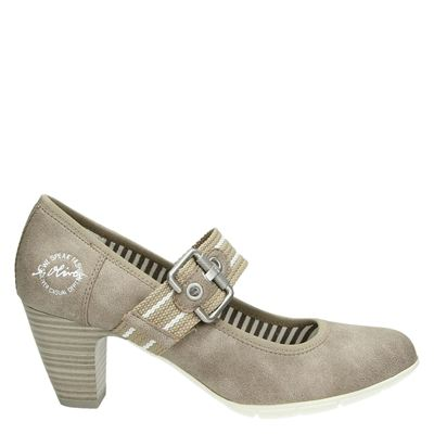 S.Oliver dames pumps taupe