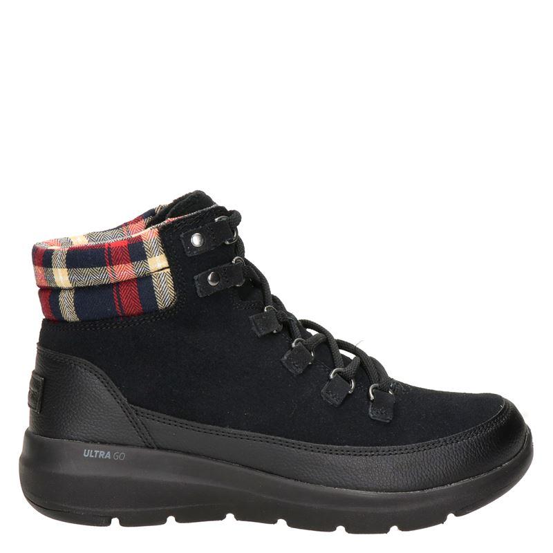 Skechers Go Walk nubuck wandelschoenen zwart online kopen