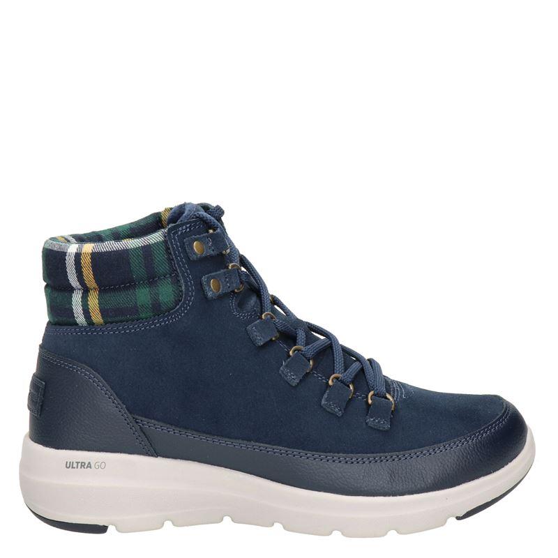 Skechers Go Walk nubuck wandelschoenen blauw online kopen