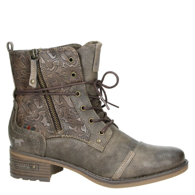 Mustang - Rits- & gesloten boots - Taupe