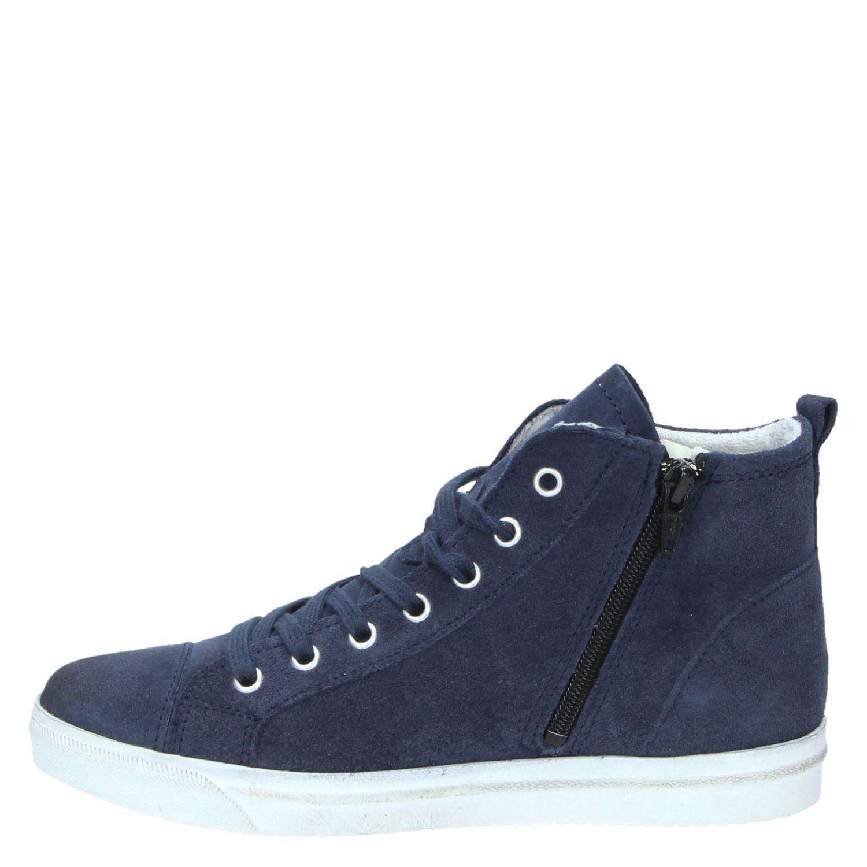 marco tozzi dames hoge sneakers blauw. Black Bedroom Furniture Sets. Home Design Ideas