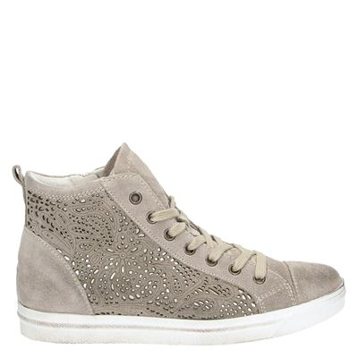 Marco Tozzi dames sneakers taupe