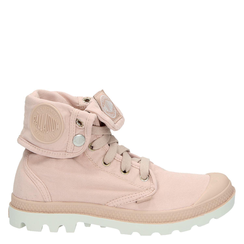 d5a9d9e0922 Palladium dames veterboots roze