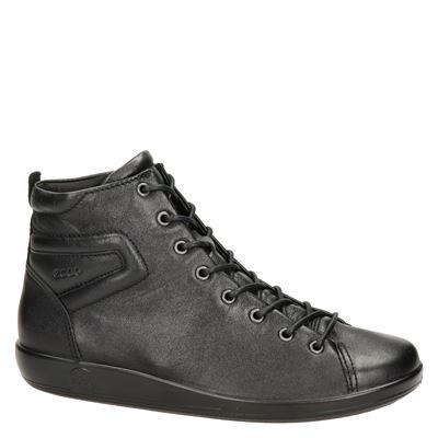 Ecco Soft 2.0dames veterschoenen Zwart