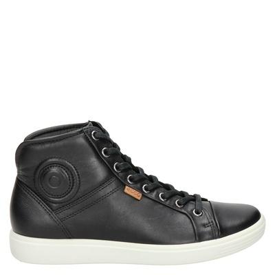 Ecco dames hoge sneakers zwart